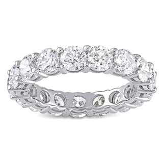 Miadora Signature Collection 18k White Gold 4 1/4ct TDW Diamond Eternity Ring