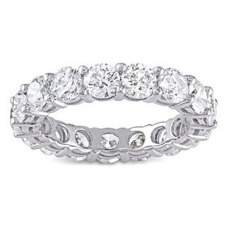Miadora Signature Collection 18k White Gold 4 1/4ct TDW Diamond Eternity Ring