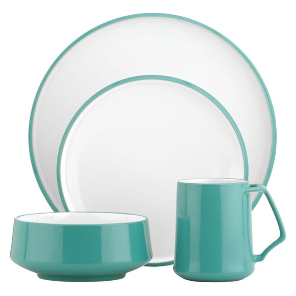Lenox kobenstyle teal 4 piece place setting free for Place setting images