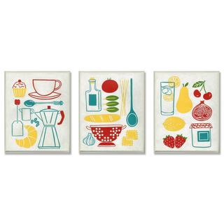 Sunday Breakfast, Dinner and Picnic Wall Plaque (Set of 3)