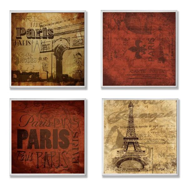 Paris This Paris That Wall Plaque (Set of 4)