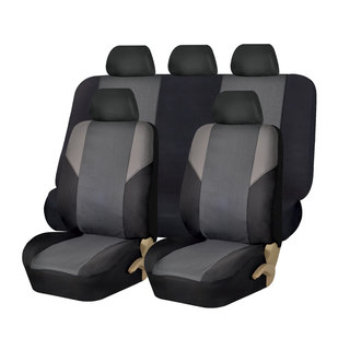 FH Group Grey Airbag-compatible Cross Weave Car Seat Covers (Full Set)