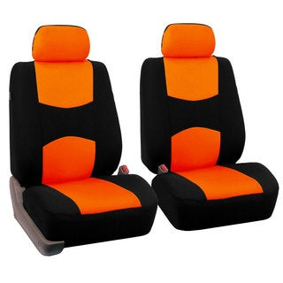 FH Group Orange Front Bucket Seat Covers (Set of 2)