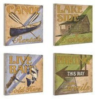 Outdoor Activities 4-piece Wall Plaque Set