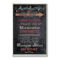 Wine Tasting' Chalkboard Wall Plaque