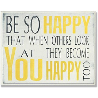 Be So Happy Typography Wall Plaque