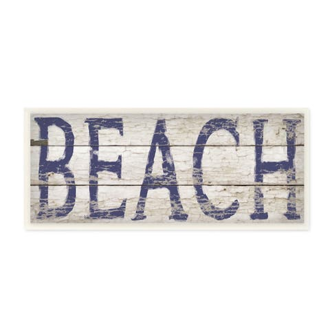 Distressed-looking Driftwood Beach Wall Plaque