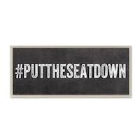 puttheseatdown wall plaque