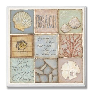 Count The Waves Oversized 9-patch Wall Plaque