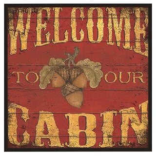 Welcome to Our Cabin Oversized Wall Hanging