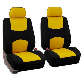 FH Group Yellow Front Bucket Seat Covers (Set of 2)