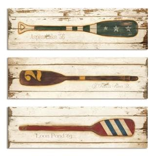 Vintage Prized Oars Plaque (Set of 3)