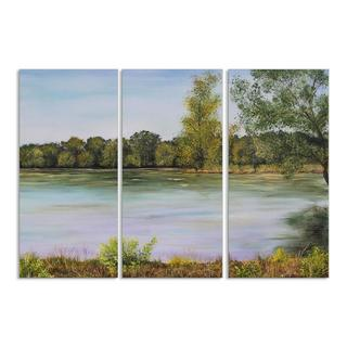 Calm Day on the Lake Triptych Art