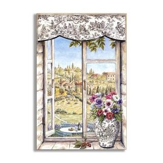 Countryside and Vase Faux Window Scene