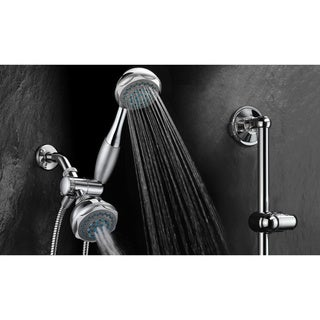 Hydroluxe Deluxe 24-setting Shower Combo with Drill Free Slide Bar