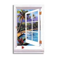 Tropical Faux Window Scene