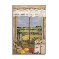 Country Side with Shutters Faux Window Scene