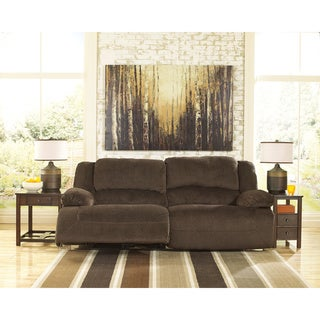 Signature Design by Ashley Toletta Chocolate Two-seat Reclining Power Sofa