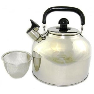 Large 4.5-liter Stainless Steel Tea Kettle with Infuser
