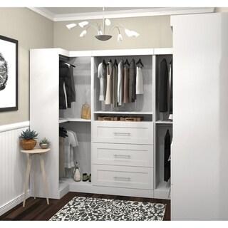 Pur by Bestar Optimum Corner Walk-In Closet Organizer Set