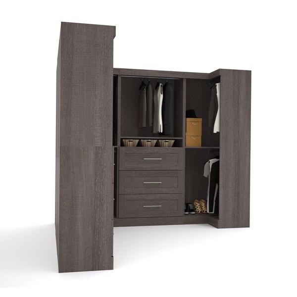 Pur By Bestar Optimum Corner Walk In Closet Organizer Set