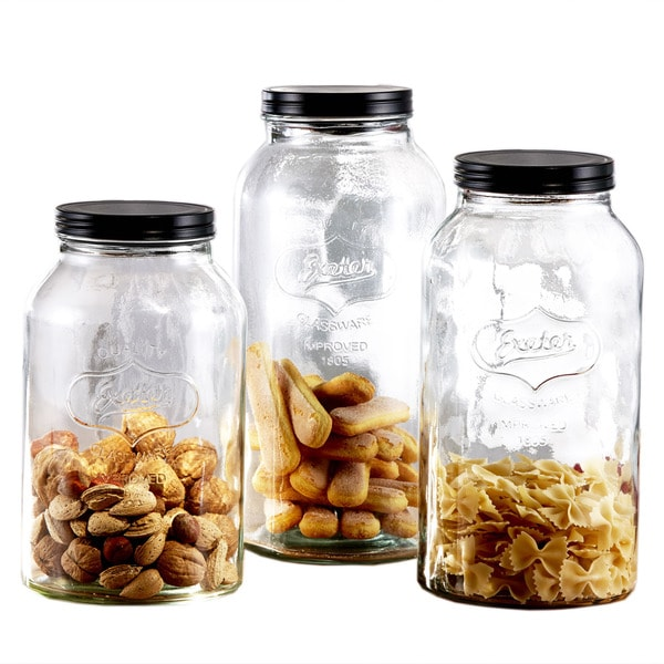 glass canister set with lids free shipping today