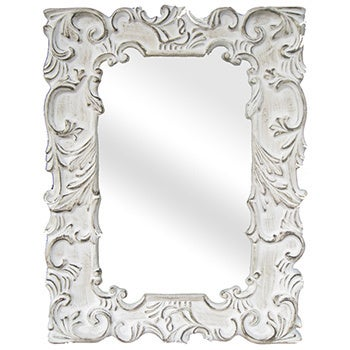 Legion Furniture Antique White Traditional Wall Mirror