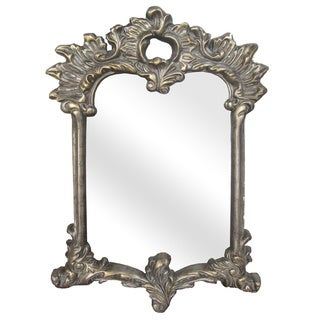 Legion Furniture Heavy Grey Wash with Antique Gold Wall Mirror