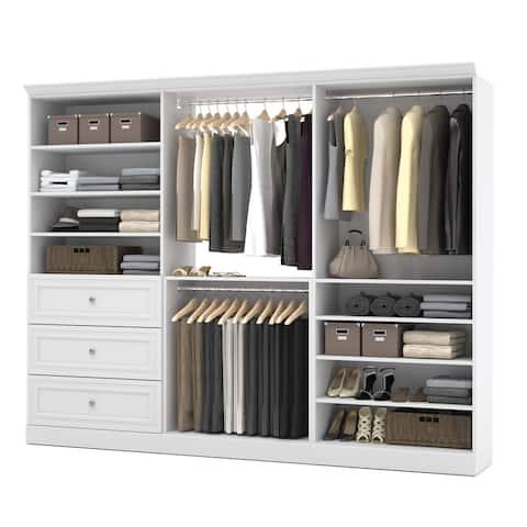 Versatile by Bestar 108-inch Classic Closet Organizer Kit