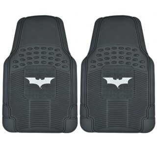 BDK Batman Rubber Floor Mats 2-Piece Dark Night Officially Licensed Products