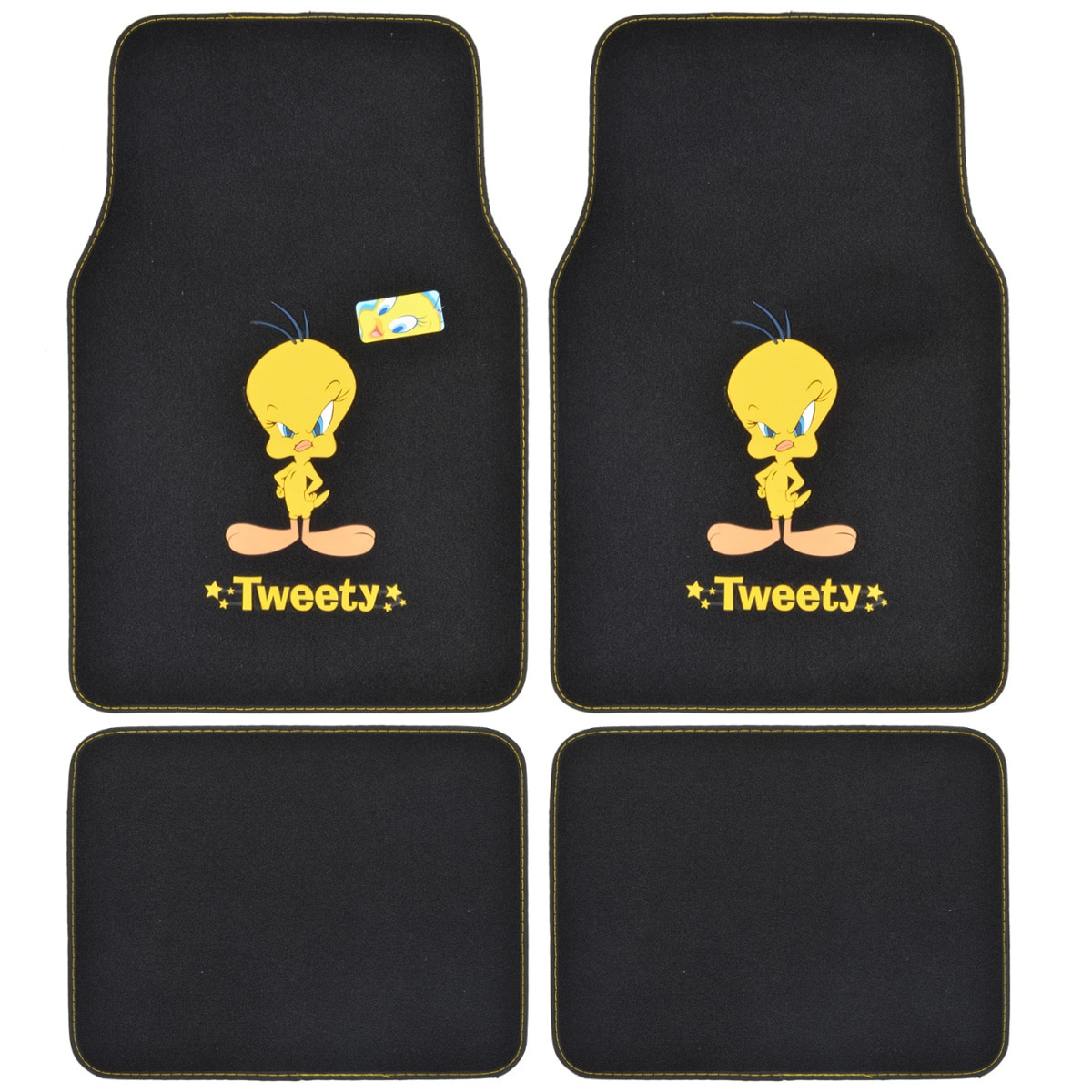 Warner Brothers Tweety Bird 4-piece Car Floor Mats (Black)