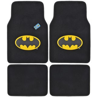 BDK Batman Floor Mats for Car 4-piece Offcially Licensed Products