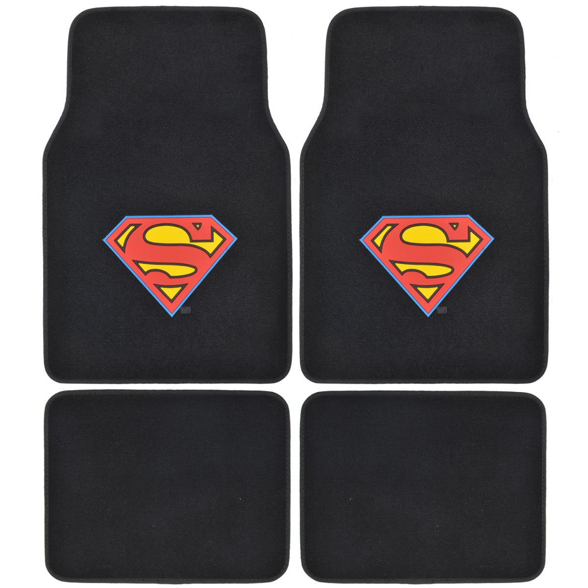 Warner Brothers BDK Superman Floor Mats for Car 4-piece O...