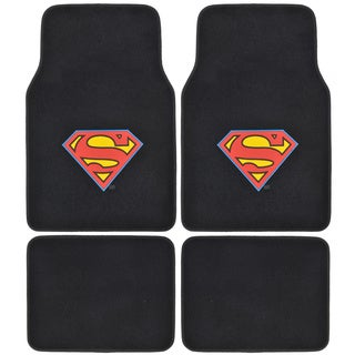 BDK Superman Floor Mats for Car 4-piece Offcially Licensed Products