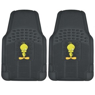 BDK Tweety Bird Rubber Floor Mats 2-Piece Officially Licensed Products