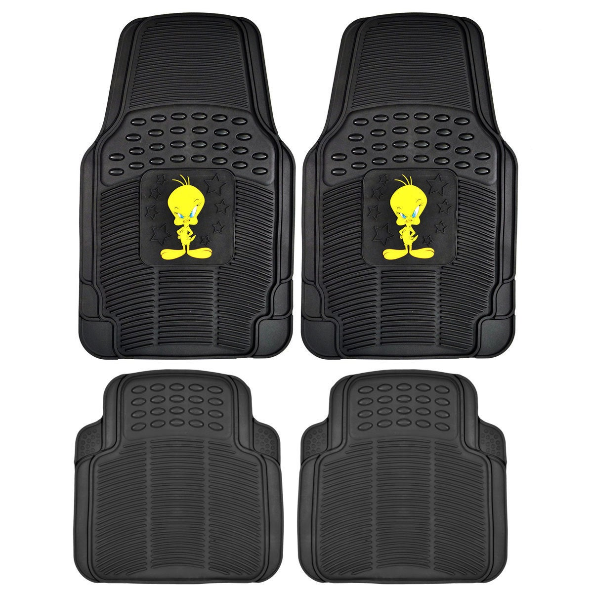 Warner Brothers BDK Tweety Bird Rubber Floor Mats 4-Piece...