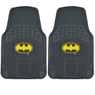 BDK Batman Rubber Floor Mats 2-Piece Officially Licensed Products