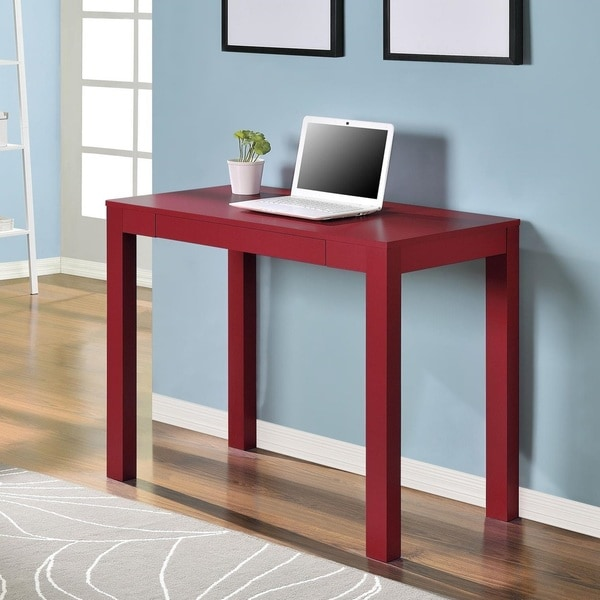 Ameriwood Home Delilah Red Parsons Single Drawer Desk