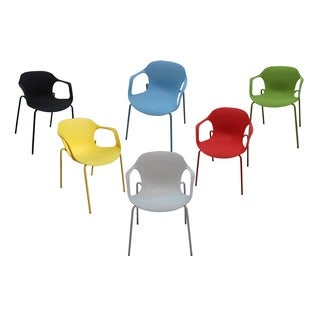 Lily Plastic Casual/ Dining Chairs (Set of 6) (4 options available)