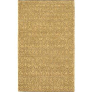 Fab Dhurrie Light Brown Wool Open Field Rug (5'0 x 8'0)