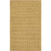 Fab Dhurrie Light Brown Wool Open Field Rug - 5'0 x 8'0