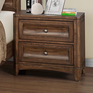 Emerald Harvest Brown 2-drawer Nightstand