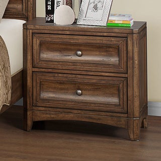 Emerald Harvest Brown 2-drawer Nightstand