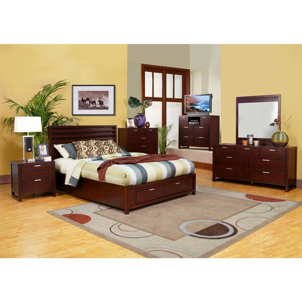 6 piece Camarillo Storage Bedroom Set Free Shipping