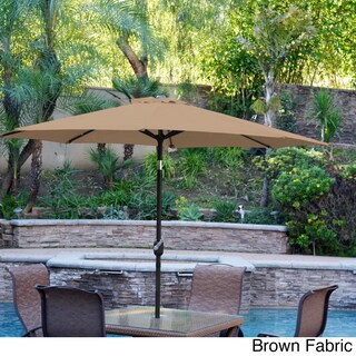 Aluminum Patio Market Umbrella Tilt with Black Pole (More options available)