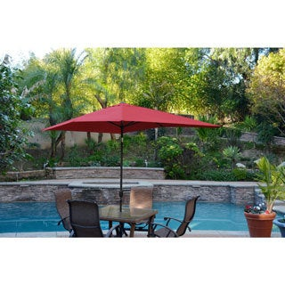 Aluminum Patio Market Umbrella Tilt with Black Pole