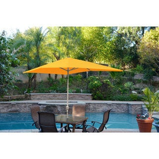 Aluminum Patio Market Umbrella Tilt with Grey Pole