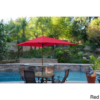Aluminum Patio Market Umbrella Tilt with Champagne Pole (More options available)
