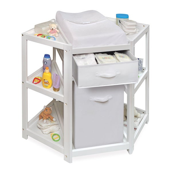 Beautiful Diaper Corner Baby Changing Table   Free Shipping Today   Overstock.com    16813066