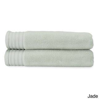Amraupur Overseas Quick Dry Combed Cotton Oversized Bath Sheet (Set of 2)